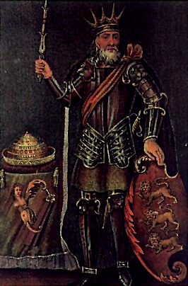 Brian Boru, an 18th century engraving. His descendants, the O'Briens, would feature heaviy in the history of Bunratty.