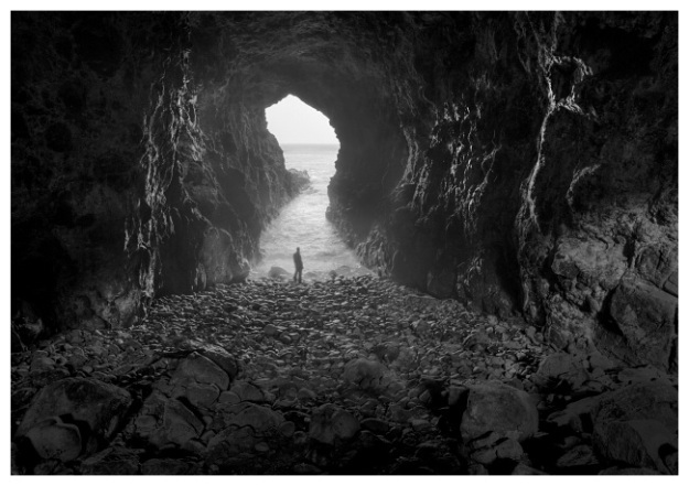 """Mermaid's Cave was an enormous strategic advantage to the castle, as it allowed supplies to be brought in when they were besieged. Phot by ,a href=""""http://www.andymcinroy.com/5port3.htm"""">Andy McInroy"""